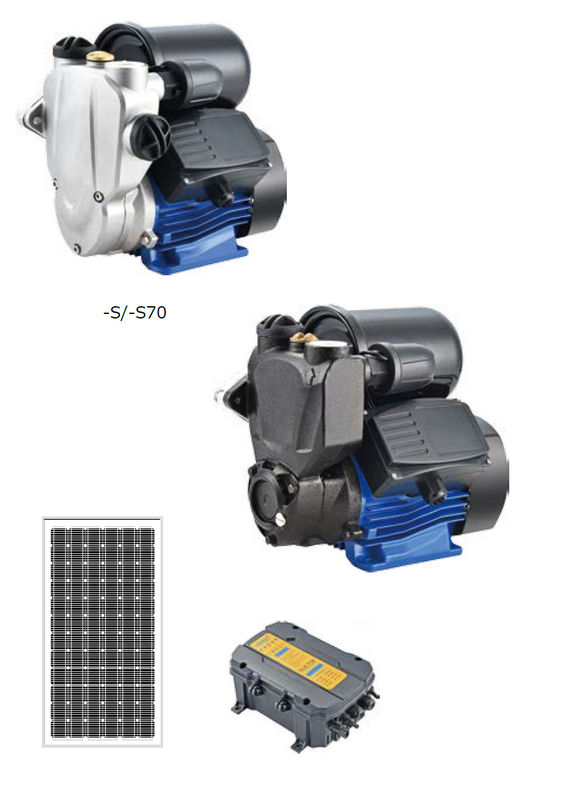 Traditional DC Brushless Surface Solar Water Pumping System , Solar Powered Watering System