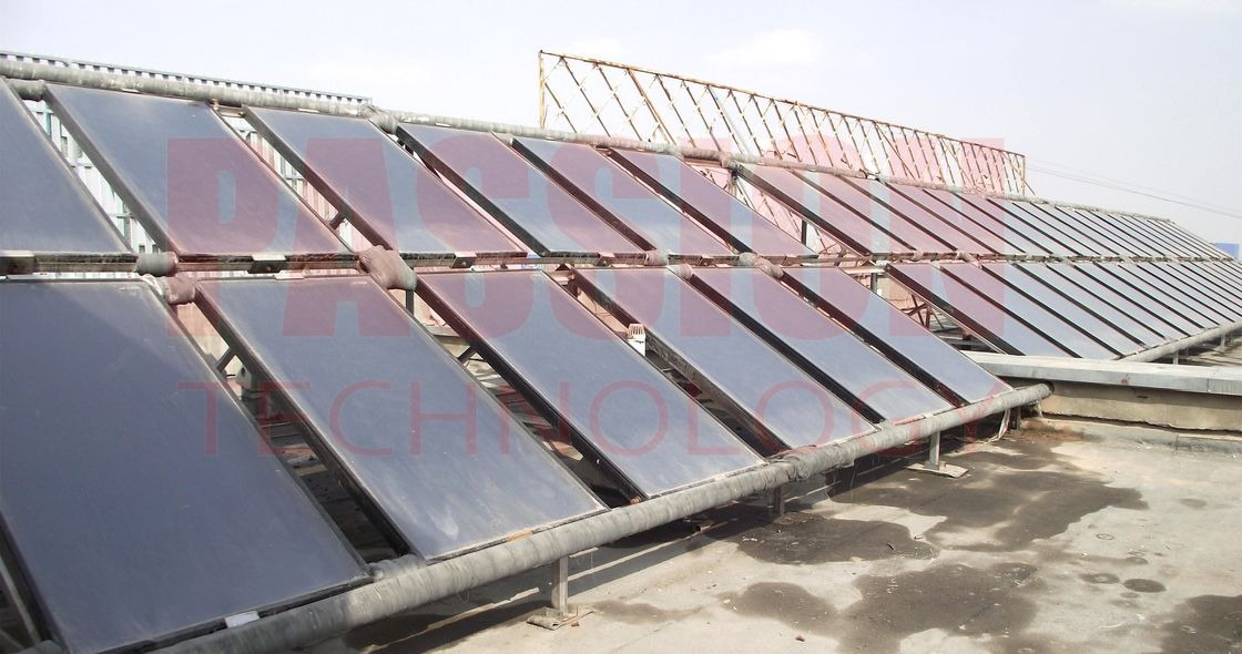 10000L Resort Solar Heating Solution Blue Titanium Flat Collector Solar Water Heater
